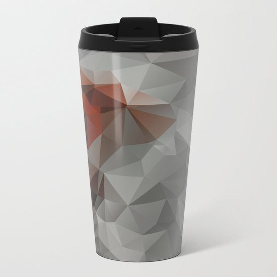 Abstract background of triangles polygon design bright colors Metal Travel Mug