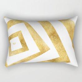 ART DECO VERTIGO WHITE AND GOLD #minimal #art #design #kirovair #buyart #decor #home Rectangular Pillow