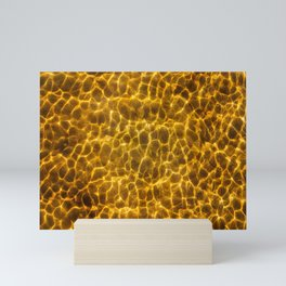 Seafloor with reflecting light Mini Art Print
