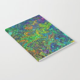 Abstract Art Percolator Frax Painting Rainbow Colors Gift Notebook
