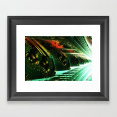 Cannon Battery (Pixel Explosion) Framed Art Print