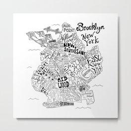 Brooklyn Map Metal Print