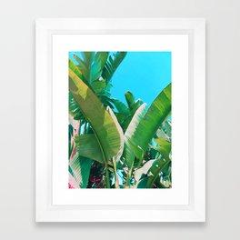 Pop Art Banana Leaf Framed Art Print