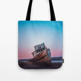 Point Reyes Shipwreck   Sunset Point Reyes Inverness California Landscape Travel Photography Tote Bag