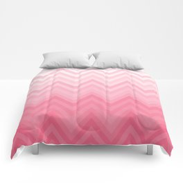 Fading Pink Chevron Comforters