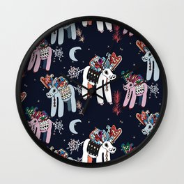Christmas Cartoons Wall Clock
