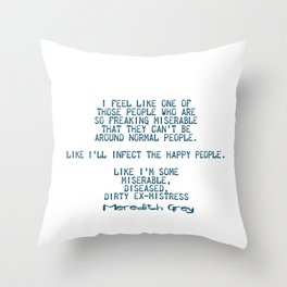 Dirty ex-mistress Throw Pillow