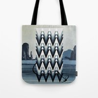 never stop exploring Tote Bags featuring Never stop exploring by Hannah Kay Piché