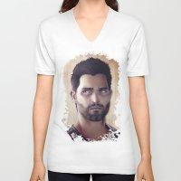 derek hale V-neck T-shirts featuring Teen Wolf - Derek Hale V1 by Caim Thomas