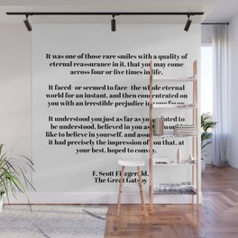 Fitzgerald quote Wall Mural