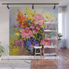 A bouquet of meadow flowers Wall Mural
