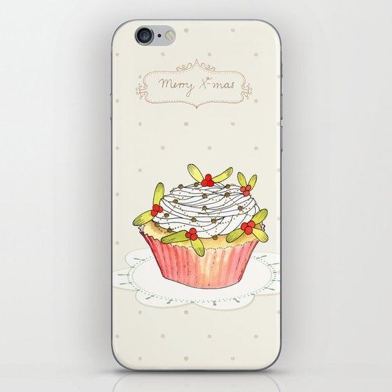 x-mas cupcake_01 iPhone & iPod Skin