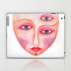 girl with the most beautiful eyes mask portrait Laptop & iPad Skin