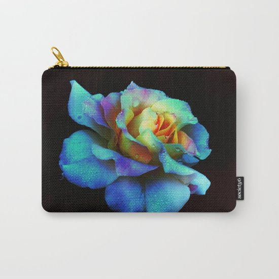 Pastel Rainbow Rose Carry-All Pouch
