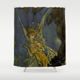 """The Fairy Queen"" Fairy Tale Art by Edmund Dulac Shower Curtain"