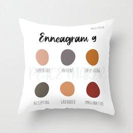 Enneagram 9 Throw Pillow