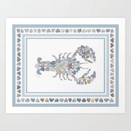 Lobster art Art Print