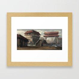 Market Place Framed Art Print