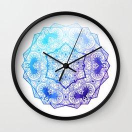 Peacock Mandala Wall Clock