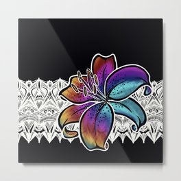 Stargazer Lily- Catalyst Gardens Metal Print