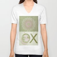 morocco V-neck T-shirts featuring Morocco OX Green by ZenzPhotography