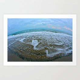 Fisheye Beach Art Print