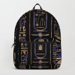 Egyptian hieroglyphs pattern Gold Lapis Lazuli #2 Backpack