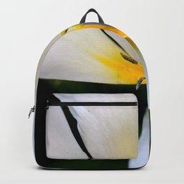 White Tulip Falling Petal Backpack