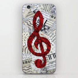 Red Treble Clef iPhone Skin