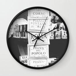 Art tiles in Rome Wall Clock