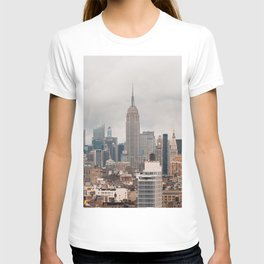 Empire State Building in Grey T-shirt