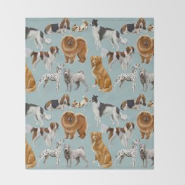 Who Let The Dogs Out? Throw Blanket