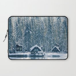 Winter's Cottage (Color) Laptop Sleeve