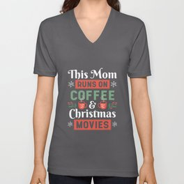 Coffee And Christmas Unisex V-Neck