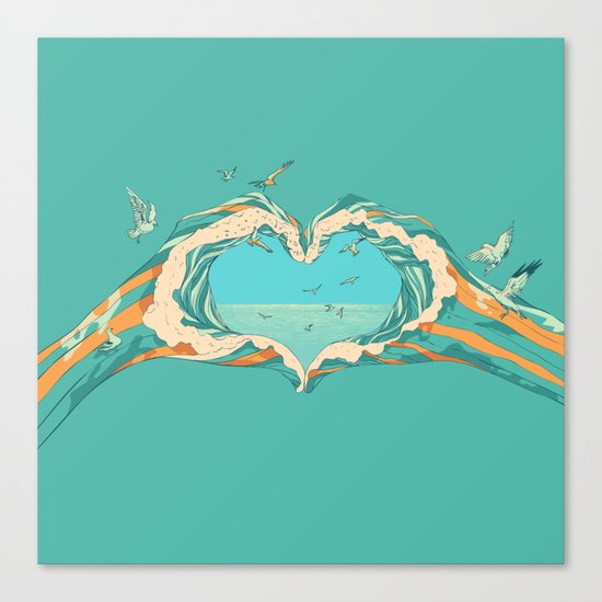 My Heart & The sea Canvas Print