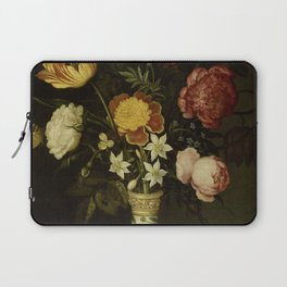 Ambrosius Bosschaert - Still life with flowers in a Wan-Li vase (1619) Laptop Sleeve