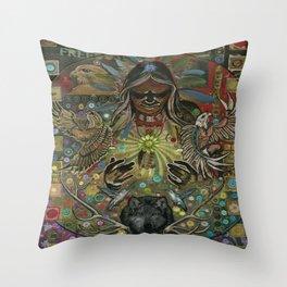 """Great Spirit "" copyright Ray Stephenson 2013 Throw Pillow"