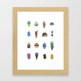 Ice Cream Truck Collage Framed Art Print
