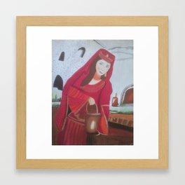 Queen Esther, a Hebrew Israelite Handmaiden Framed Art Print