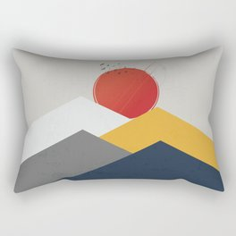 Geometric Sun Landscape Rectangular Pillow