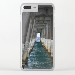 Under the Pier, Into the Ocean (Wrightsville Beach, NC) Clear iPhone Case
