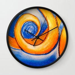 Marmalade Swirl Wall Clock