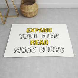 EXPAND YOUR MIND READ MORE BOOKS Rug