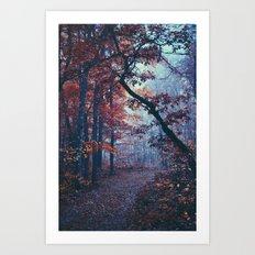 Haunted Autumn Art Print