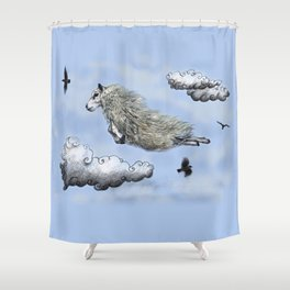 Flying sheep Shower Curtain