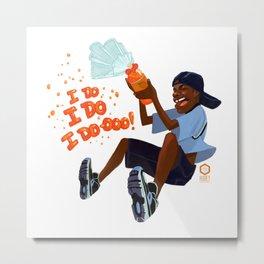 Kel Loves Orange Soda Metal Print