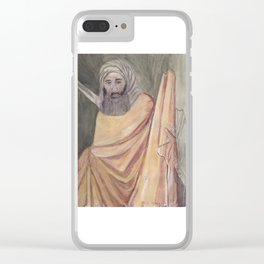 Reproduction of a Section of The Trial By Fire Fresco by Giotto Clear iPhone Case