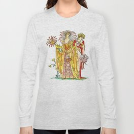 Vintage Tiger-Lily Lady Goddess Long Sleeve T-shirt