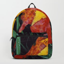 Autumn Leaves After the Rain Backpack