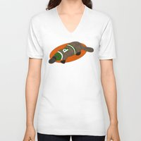 platypus V-neck T-shirts featuring Platypus by subpatch
